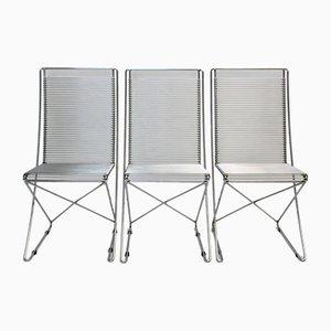 Kreuzschwinger Stühle von Till Behrens für Schlubach, 1983, 3er Set
