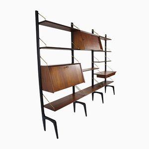Libreria modulare di Louis van Teeffelen per Wébé, anni '50