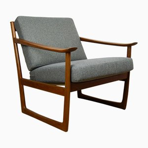 Model FD130 Easy Chair by Peter Hvidt & Orla Mølgaard-Nielsen for France & Søn, 1960s