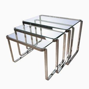 Tavolini a incastro, anni '60, set di 3