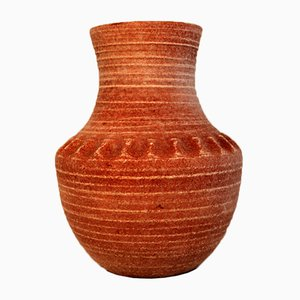 Mid-Century Keramik Vase von Accolay, 1960er