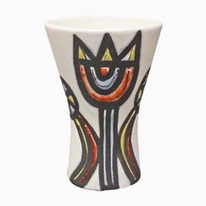 Vase with Tulips by Roger Capron, 1950s
