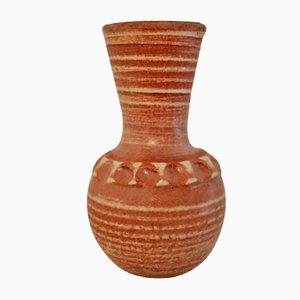 Beige Mid-Century Keramik Vase von Accolay, 1960er