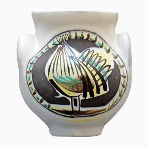 Keramik Vase mit Hahn von Roger Capron, 1950er