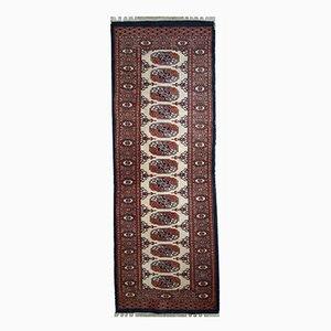 Tappeto da corridoio Bukhara vintage fatto a mano, anni '60