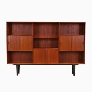 Vintage Danish Teak Highboard by Erik Jensen for Westergaard Møbelfabrik