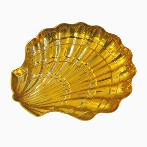 Große Vintage Muschelschale aus Messing
