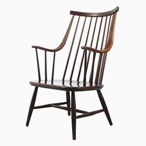Holz Armlehnstuhl von Lena Larsson für Pastoe, 1960er