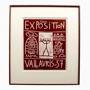 Poster della mostra Picasso Vallauris di Mourlot Bros, 1957