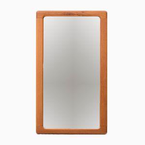Specchio vintage in teak massiccio di CFC Silkeborg
