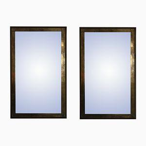 Specchi in ottone, Spagna, anni '70, set di 2