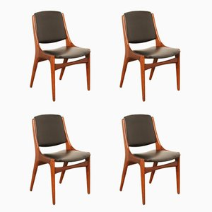 Teak Dining Chairs by TopForm, 1964, Set of 4