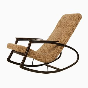 Czech Modernist Rocking Chair, 1940s