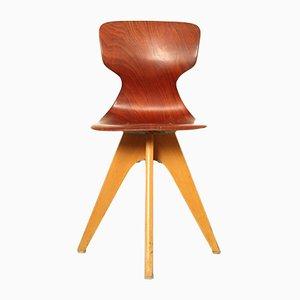Deutscher Klassenzimmer Stuhl von Adam Stegner für Pagholz Flötotto, 1950er