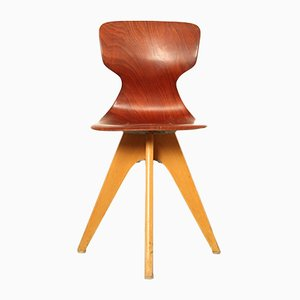 German School Chair by Adam Stegner for Pagholz Flötotto, 1950s