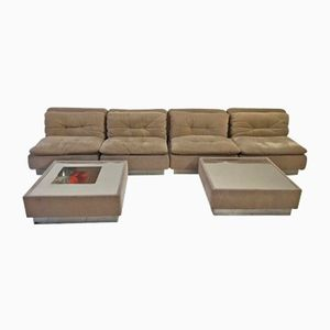Living Room Set from Saporiti Italia, 1970s