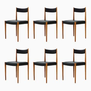 Vintage German Dining Chairs from Lübke, 1960s, Set of 6