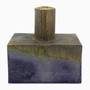 Vaso quadrato brutalista di Marcello Fantoni, anni '60