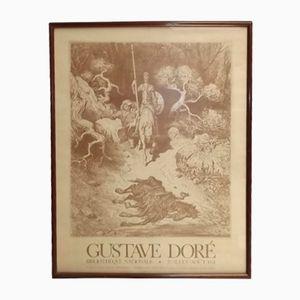 Poster Bibliothèque Nationale raffigurante Don Chisciotte di Gustave Doré, 1974