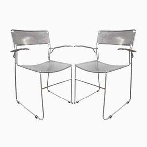 Vintage Italian Chrome Chairs, 1980s, Set of 2