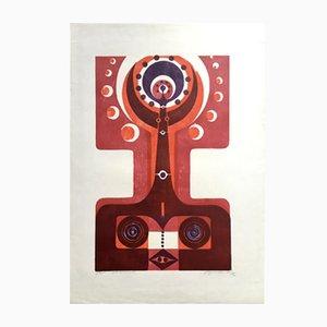 Vintage Druck von Manfred Degenhardt, 1972