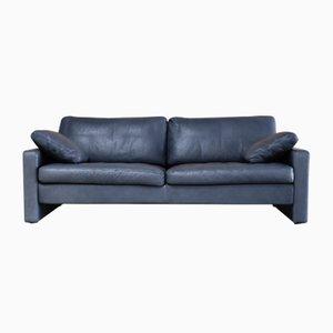 Vintage Conseta Sofa aus Blauem Leder von Cor