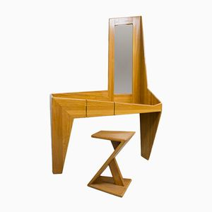 Asymmetrical Dressing Table with Stool, 1960s