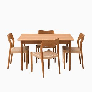 Dining Set by Niels Otto Møller, 1950s