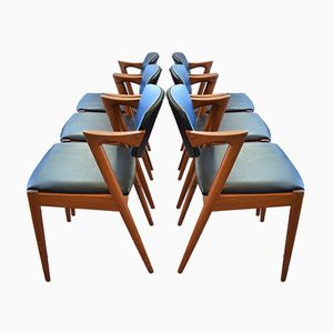 Model 42 Dining Chairs by Kai Kristiansen for Schou Andersen, 1960s, Set of 6