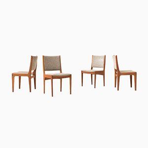 Vintage Esszimmerstühle aus Massivem Teakholz von Imha, 4er Set