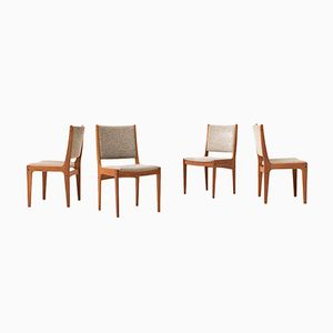 Vintage Solid Teak Dining Chairs from Imha, Set of 4