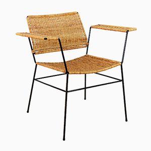 Vintage Sessel aus Korbgeflecht, 1970er