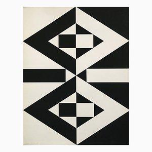 Vintage Druck von Imre Kocsis, 1971