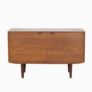 Small Danish Sideboard in Teak with Pressure Opening System, 1960s