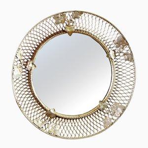 Specchio Mid-Century con foglie, anni '60