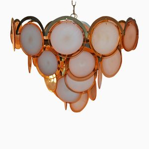 Italian Disc Chandelier by Gino Vistosi for Vistosi, 1970s