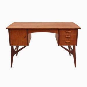 Danish Teak Writing Desk with Shaped Legs, 1960s