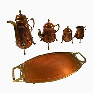 Antique German Coffee Serving Set from Fischer