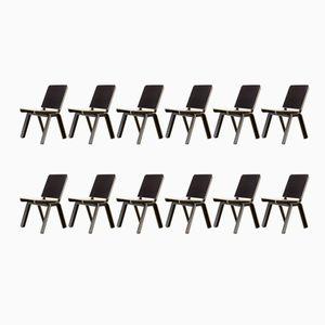 Stek Stühle von Luc Brinkman & Ennio Vincenzoni für Het Hoofdkwartier, 1992, 12er Set