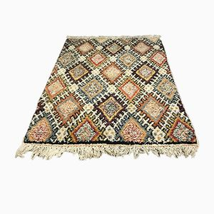 Vintage Moroccan Berber Beni Ouarain Shag Wool Rug, 1963