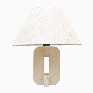 Italian Travertine Lamp, 1960s