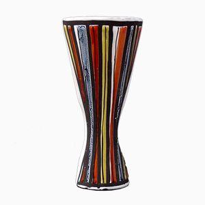Bunte Vase im Pyjama-Stil von Roger Capron, 1950er