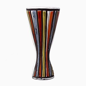 Multicoloured Pyjama Style Vase by Roger Capron, 1950s