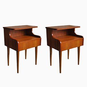 Tables de Chevet Mid-Century, Danemark, 1960s, Set de 2