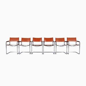 S34 Esszimmerstühle aus Edelstahl von Mart Stam für Jox Interni, 1970er, 6er Set