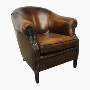Vintage Cognac Leather Club Chair