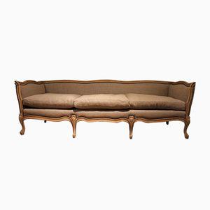 Französisches Sofa aus Gebleichter Buche, 1920er
