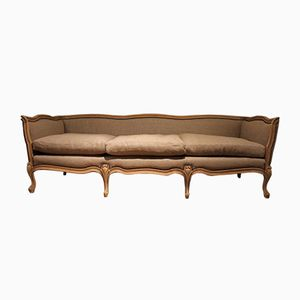 French Bleached Beech Sofa, 1920s
