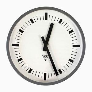 Vintage Railway Clock from Pragotron, 1970s