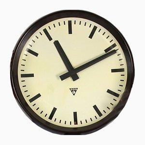 Orologio da stazione in bachelite vintage di Pragotron